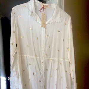 Dragonfly print boho shirt